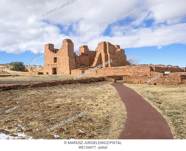 Quarai Mission ruins are located in Salinas Pueblo Missions National Monument near Mountainair, NM