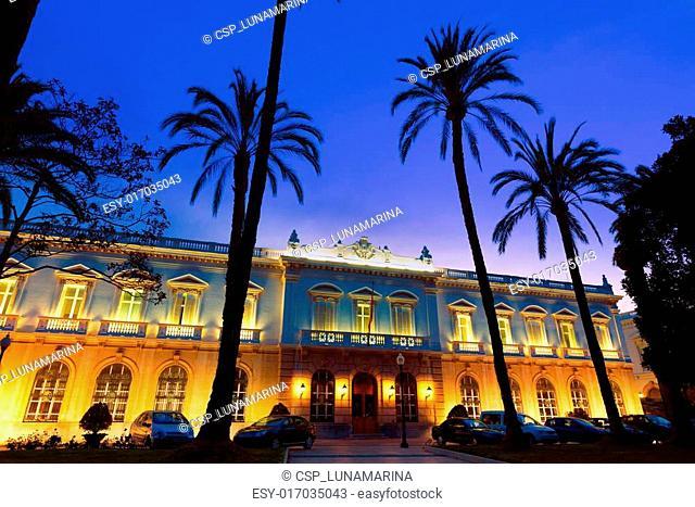 Cartagena Obras del Puerto sunset Murcia