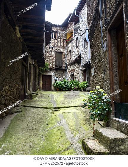 Arquitectura popular. San Martín del Castañar. Sierra de Francia. Salamanca. Castilla León. España