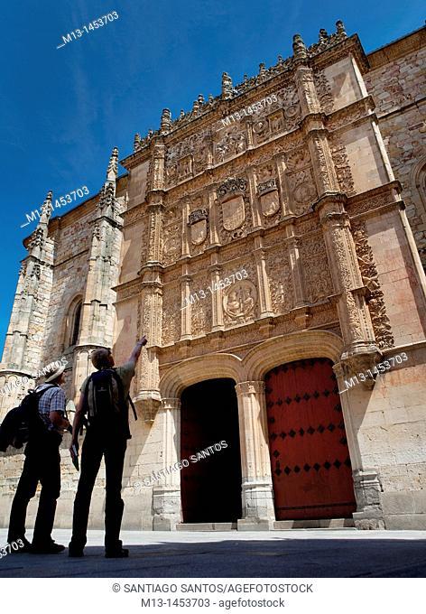 Main facade of the University of Salamanaca