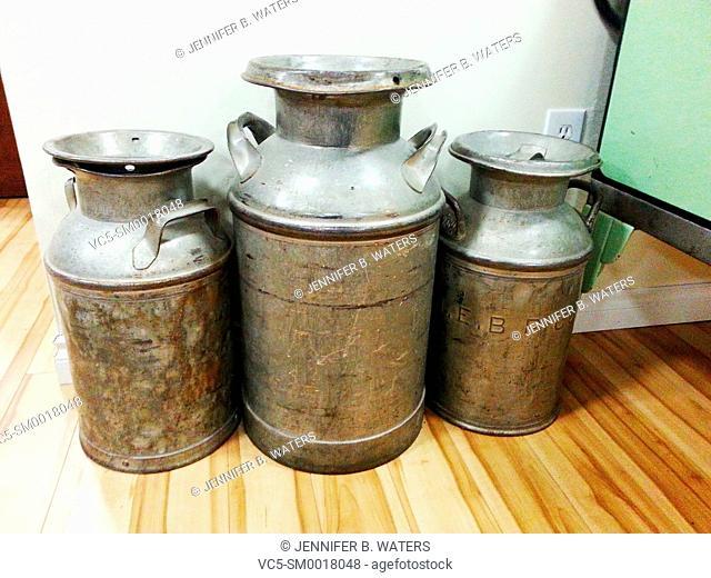 Large milk jugs