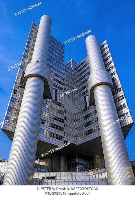 Hypo-Hochhaus, administrative building of the HypoVereinsbank, Arabellapark, Bogenhausen, Munich, Bavaria, Germany, Europe