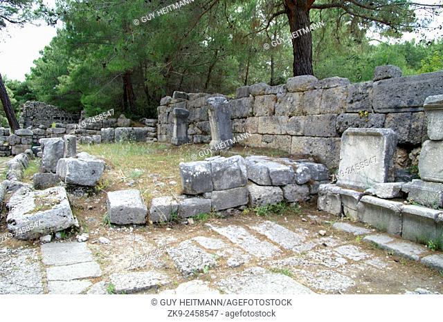 Main Street, Hadrians Gate, Phaselis, Turkey