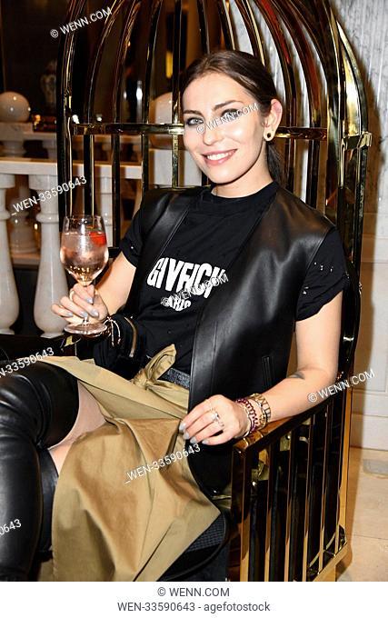 GRAZIA Fashion Dinner during Berlin Fashion Week Autumn / Winter 2018 at Titanic Hotel at Gendarmenmarkt. Featuring: Masha Sedgwick (Maria Astor) Where: Berlin