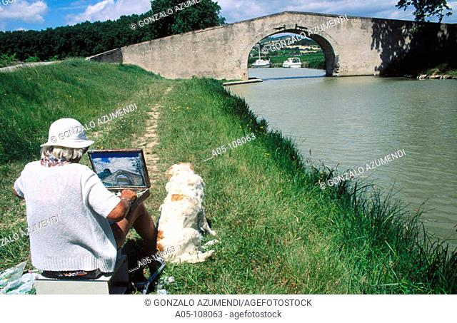 Argeliers region. Canal du Midi. Aude. Languedoc-Roussillon. France