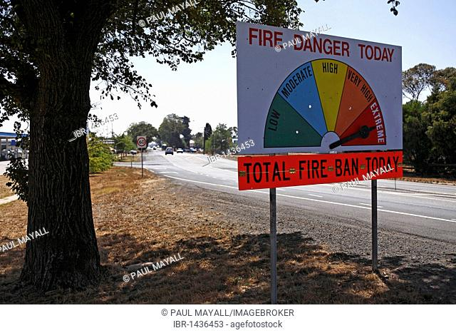 Roadside country fire gauge, Victoria, Australia