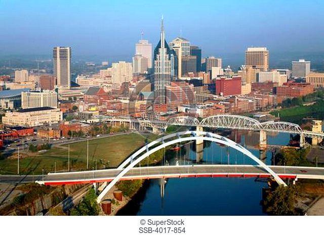 Nashville Skyline with Gateway Bridge