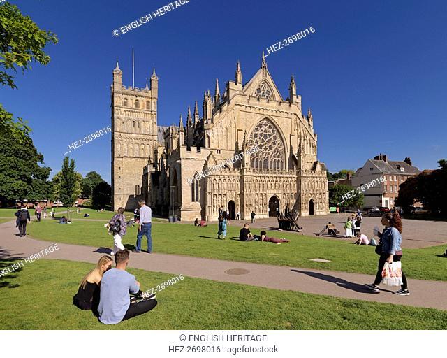 Exeter Cathedral, Devon, c2010-c2018. Creator: James O Davies