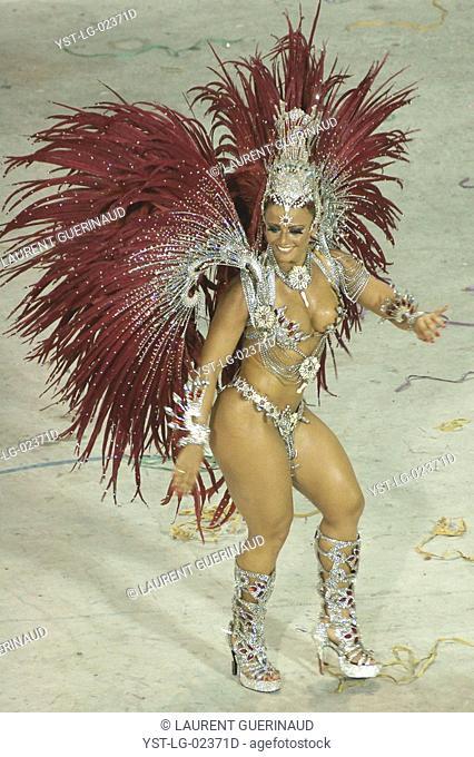 Viviane Araújo, Queen of the Battery, Carnival 2009, School of Samba Salgueiro, Champion, Rio de Janeiro, Brazil