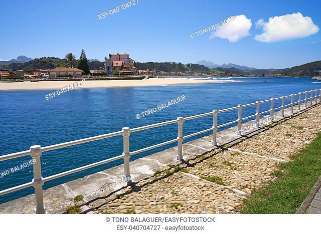 Ribadesella village river Sella in Asturias of Spain