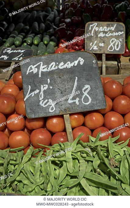 Fruits and vegetables street market in Montevideo,Uruguay,South America