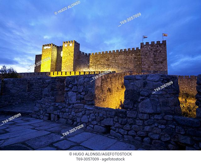 NIght view of Trujillo Castle, Trujillo, Extremadura, Spain
