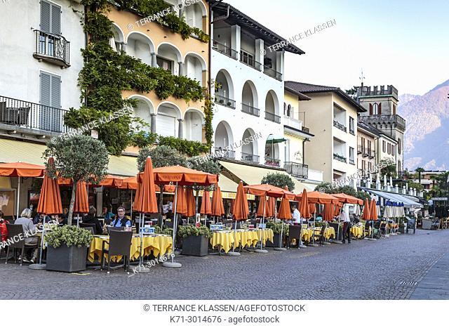 The town of Ascona on Lake Maggiore, Ticino, Switzerland, Europe