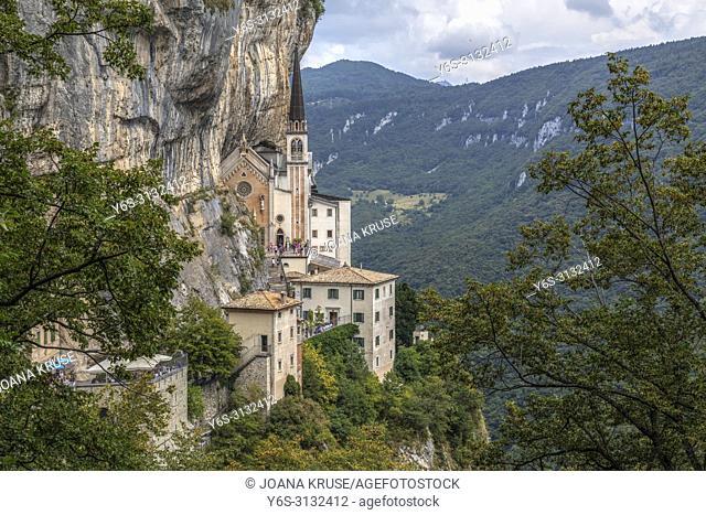 Madonna della Corona, Spiazzi, Lake Garda, Veneto, Italy, Europe
