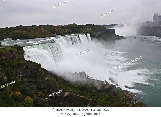Niagra Falls in Niagra Falls, New York, USA