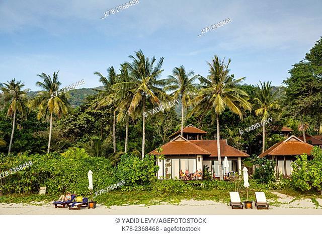 Beach cabins on Ba Kantiang bay, Ko (Koh) Lanta, Thailand