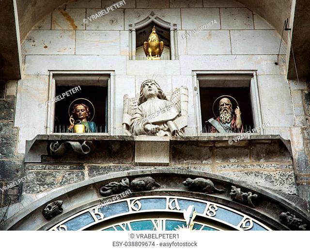 Famous astronomical clock in Prague, Czech republic, Europe. Cultural heritage