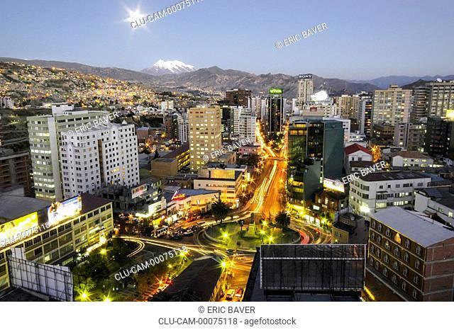Panoramic of the City La Paz, Bolivia, South America