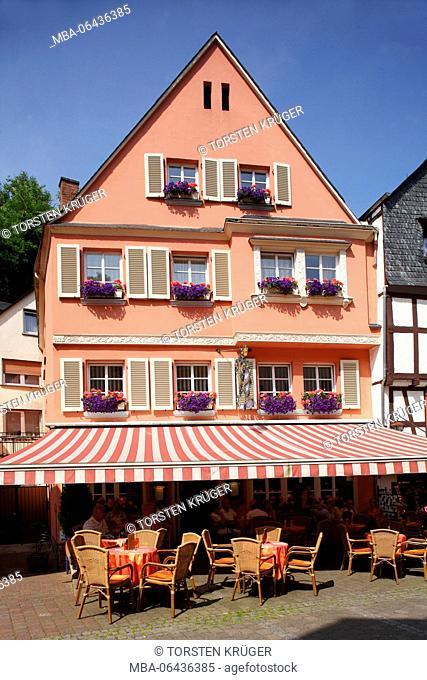 Römerstrasse' (street), old house in the Old Town of Bernkastel, Bernkastel-Kues, Rhineland-Palatinate, Germany