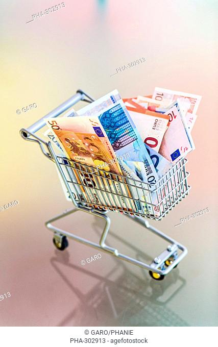 Conceptual image of purchasing power
