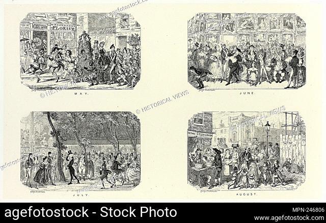 May from George Cruikshank's Steel Etchings to The Comic Almanacks: 1835-1853 (top left) - 1835, printed c. 1880 - George Cruikshank (English