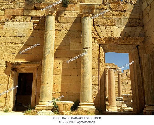 Roman ruins of Leptis Magna, Libya