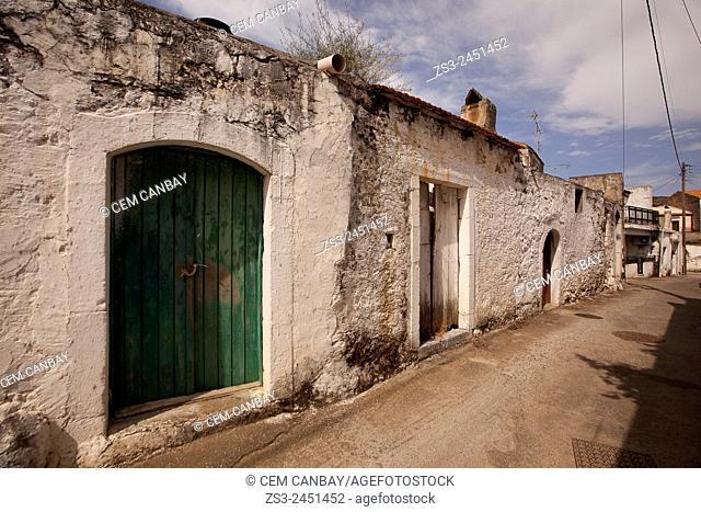 Old house in Chania Region, Crete, Greek Islands, Greece, Europe