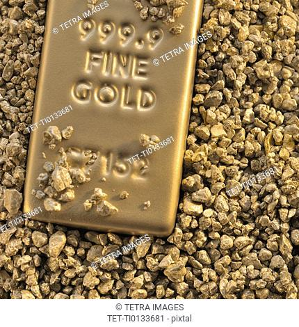 Gold block and nuggets