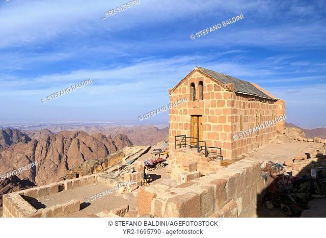 The chapel of the holy trinity on top of Mount Sinai in Egypt