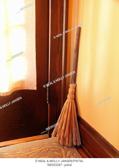 Old Broom by Door