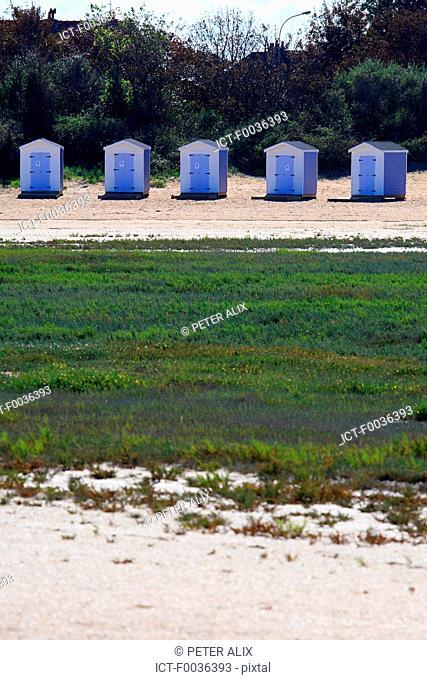 France, Pas de Calais, Grand-Fort Philippe, beach hut
