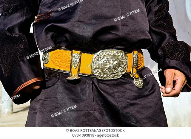 Traditional Mongolian belt and male outfit