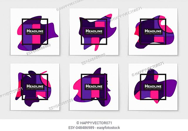 Abstract vector layout background set. For art template design, list, page, mockup brochure theme style, banner, idea, cover, booklet, print, flyer, book, blank