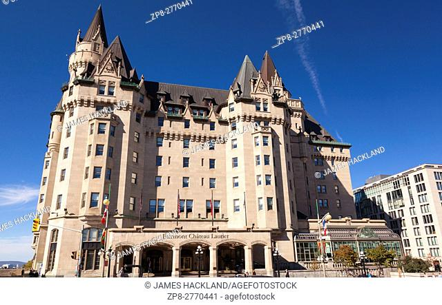 The Fairmont Château Laurier (Château Laurier National Historic Site of Canada) in Ottawa, Ontario, Canada