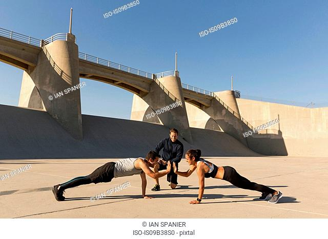 Athletes working out, Van Nuys, California, USA