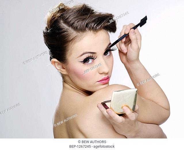 Young woman's beauty portrait