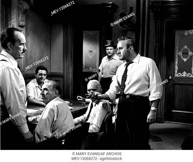 'George Voskove, Edwars Binns, Ed Begley, Joseph Sweeney, Jack Warden & Lee J. Cobb Characters: Juror ,3 Film: 12 Angry Men; Twelve Angry Men (USA 1957)...