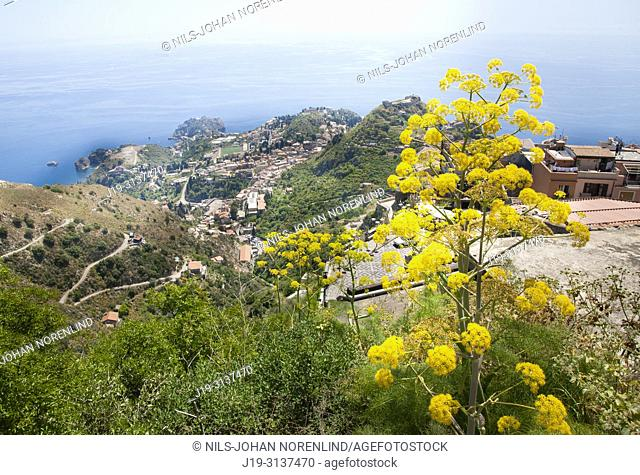 Taormina seen from above, Sicily