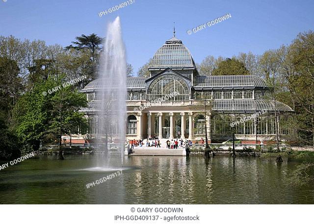Madrid - Parque del Retiro, Palacio de Cristal in Retiro Park