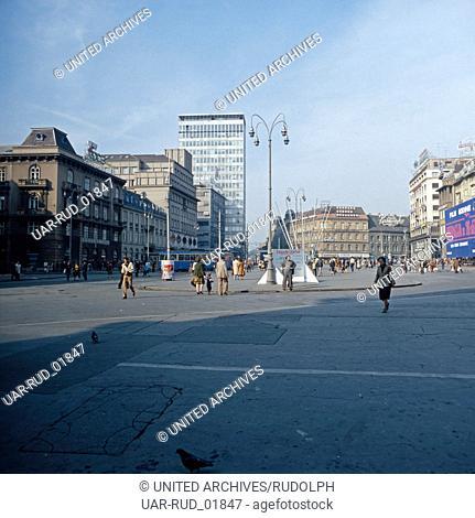 Urlaub in Zagreb, Kroatien, Jugoslawien 1970er Jahre. Vacation in Zagreb, Croatia, Yugoslavia 1970s