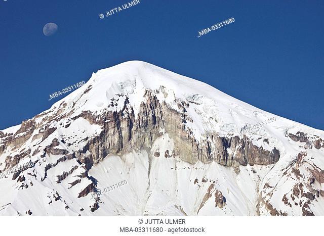 Bolivia, national park Sajama, volcano Nevado Sajama, moon