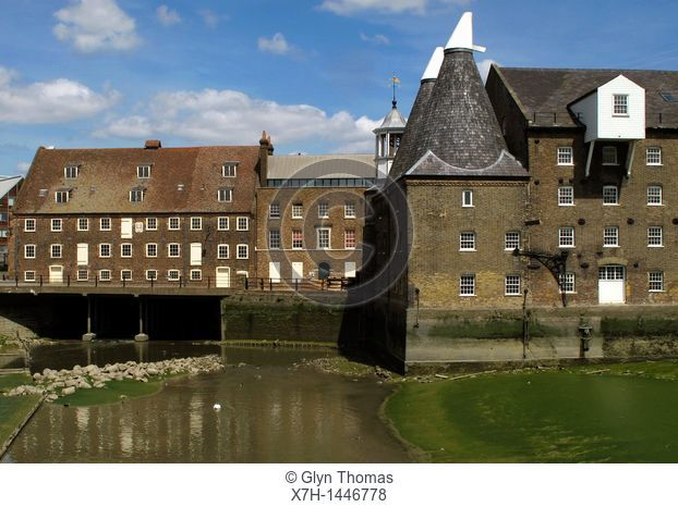 House Mill, Miller's House and Clock Mill, Three Mills Island, London, England
