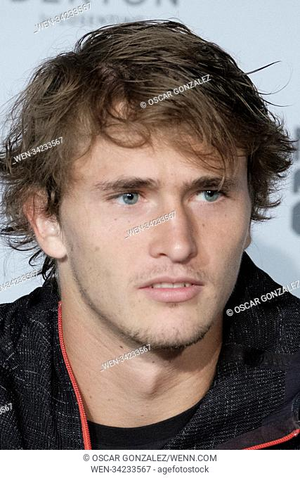 Mutua Madrid Open - Day 9 - Men's Singles Final press conference Featuring: Alexander Zverev Where: Madrid, Spain When: 13 May 2018 Credit: Oscar Gonzalez/WENN