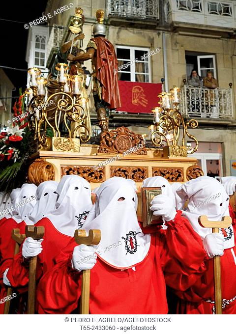 02-04-2015  (Viveiro, Lugo province, Galicia, Spain): Holy Week, Maundy Thursday, Prendimiento procession in the old town