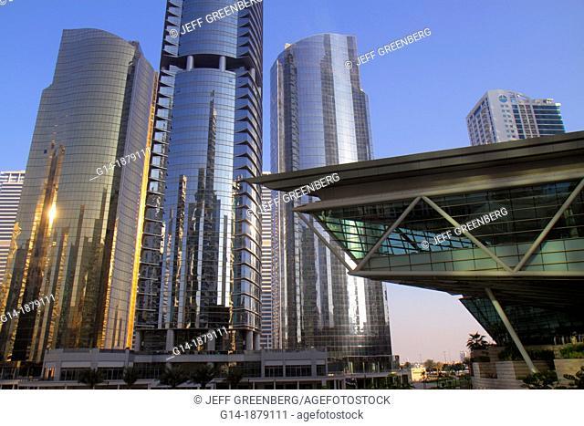 United Arab Emirates, Dubai, Jumeirah Lake Towers, Platinum Tower, AU Tower, AG Tower, Almas Tower