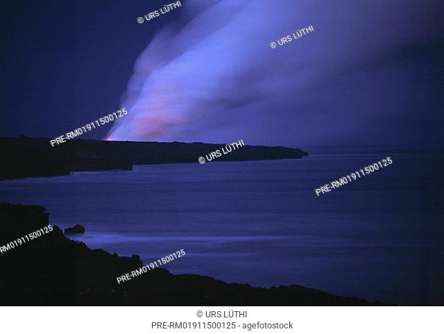Smoke, Lava, Big Island, Hawaii, USA