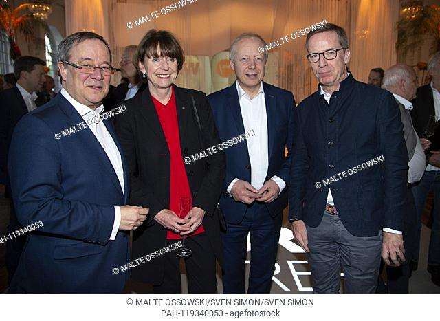 from left: Armin LASCHET, State Premier of North Rhine Westphalia, Henriette REKER, Mayor of Koeln, Tom BUHROW, Director of WDR
