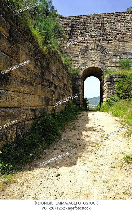 Parco Archeologico di Elea-Velia, Parco Archeologico di Elea-Velia, the Pink Door, la porta Rosa, Ascea, distretto di Salerno, Campania, Italia, Europa