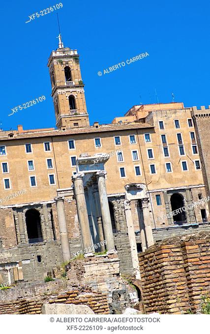 Roman Forum, Foro Romano, World Heritage Site, Rome, Lazio, Italy, Europe