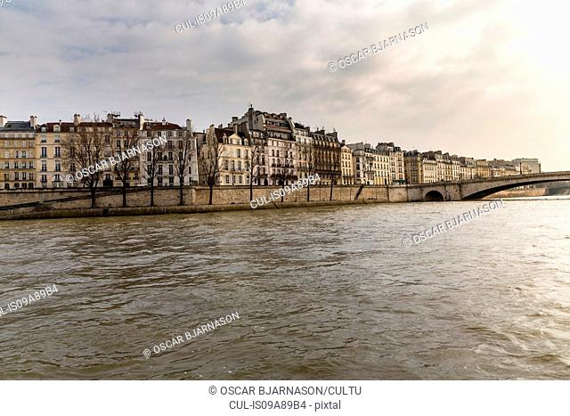 View of the River Seine, Paris, France